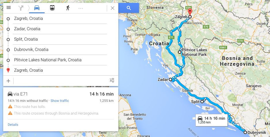 Croatia Road Trip