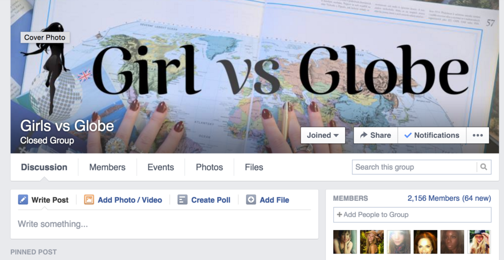 Facebook Groups Girl Vs Globe