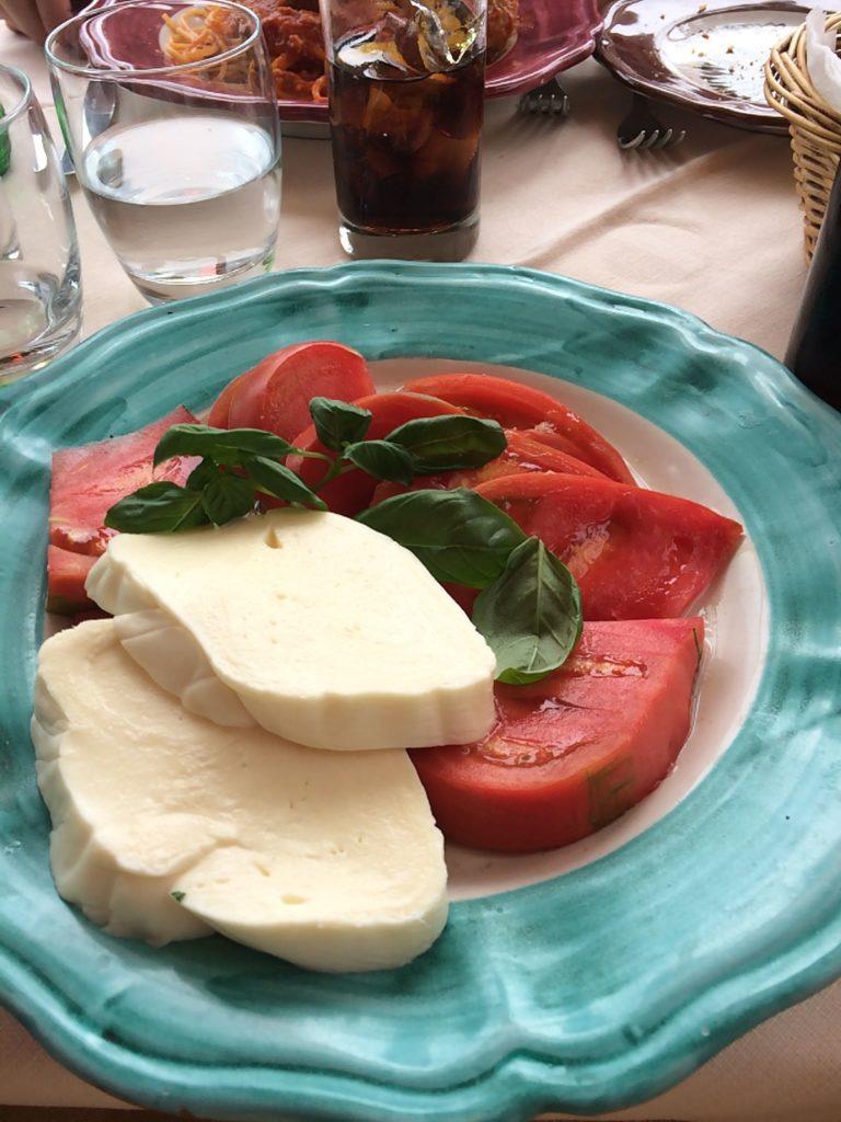 caprese salad amalfi coast