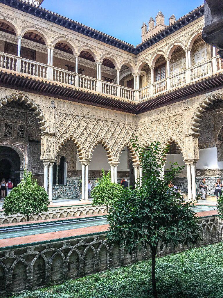 lions gate alcazar of seville