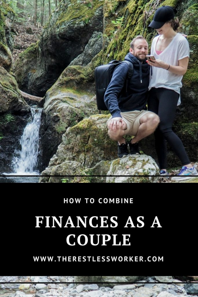 combine finances as a couple