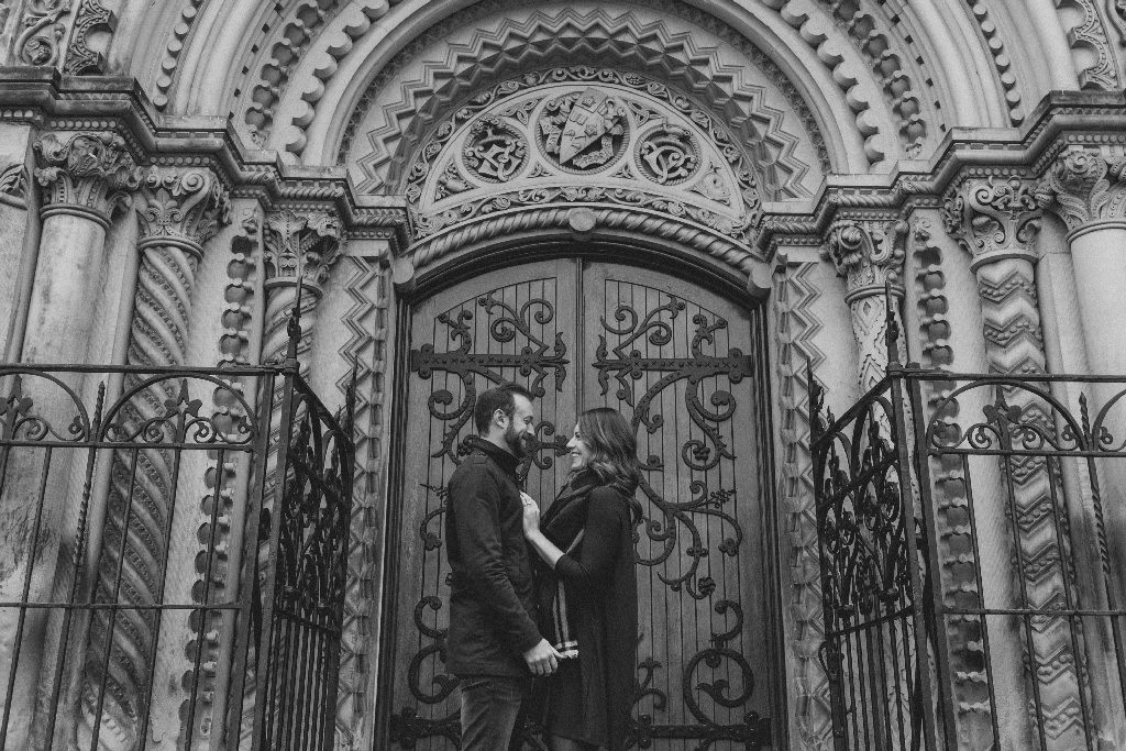 engagement photos at the university of Toronto