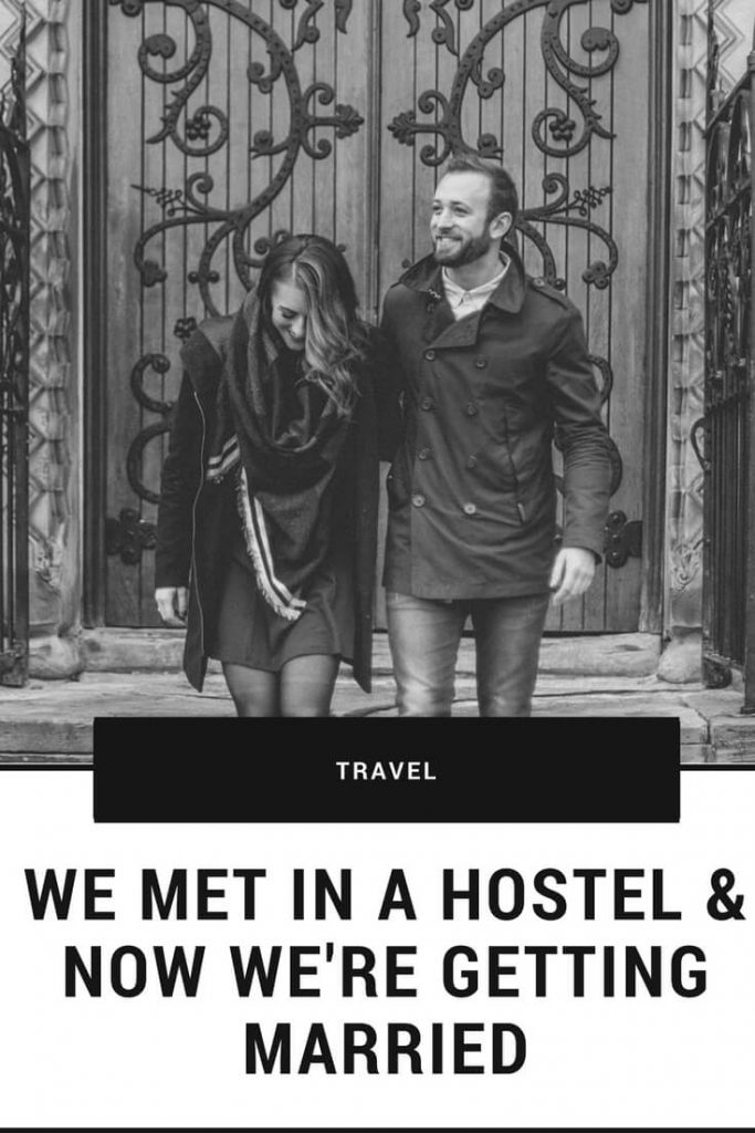we met in a hostel travel couple