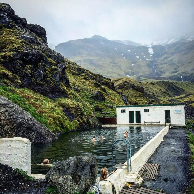 Tag someone youd want to swim here with! icelandtravel seljavallalaughellip