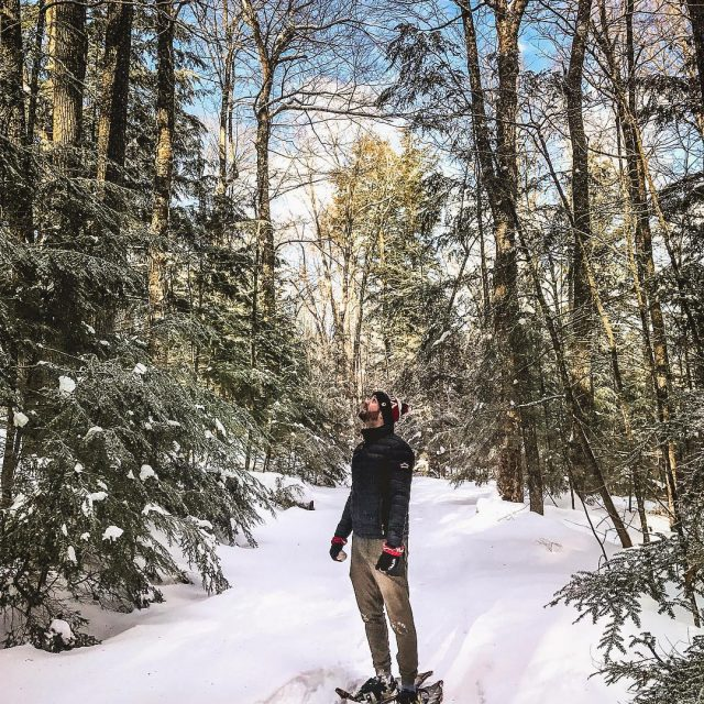 Theres nothing quite like a morning snowshoe on a beautifulhellip